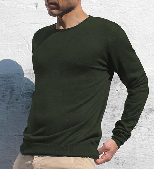 Girocollo army indossato