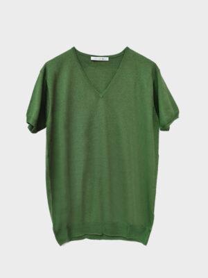 T-shirt scollo v military