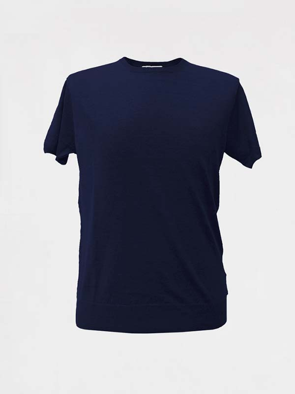 tshirt-girocollo-in-lino-navy