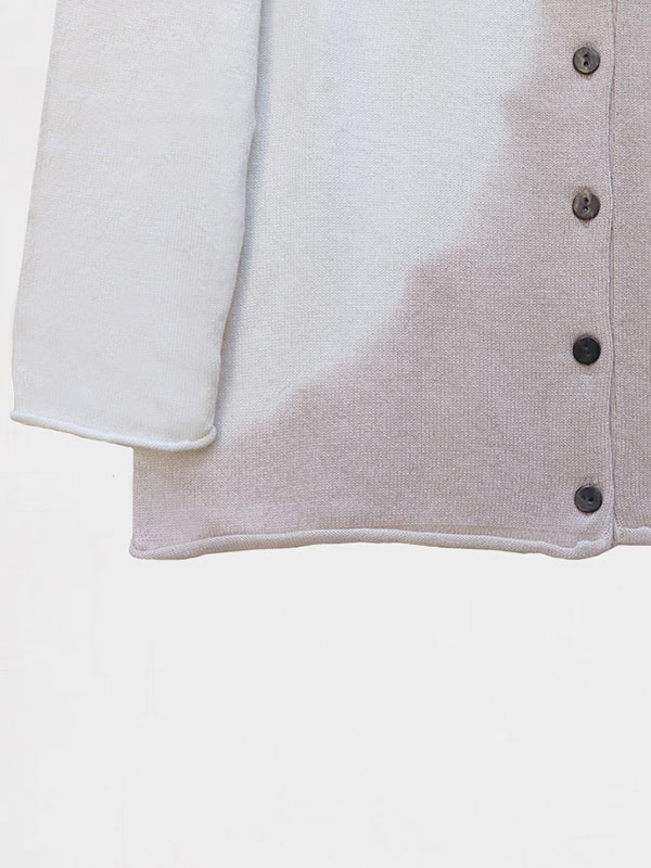 Marilù space in seta e cashmere ivory/jute dettaglio