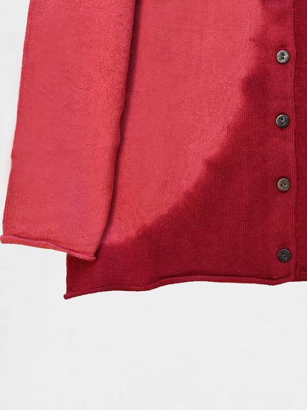 Marilù space in seta e cashmere Desert/Cordovan dettaglio