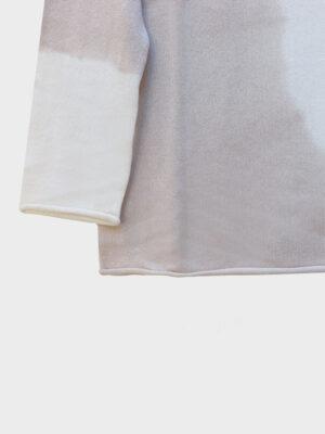 Maddalena Space tie-dye ivory/jute dettaglio