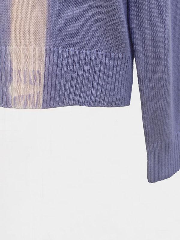 London vertical tiedye in seta e cashmere slate/jute dettaglio