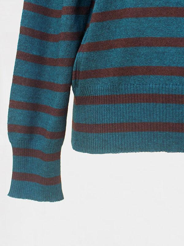 Malaga stripes in seta e cashmere atlantis/rye dettaglio