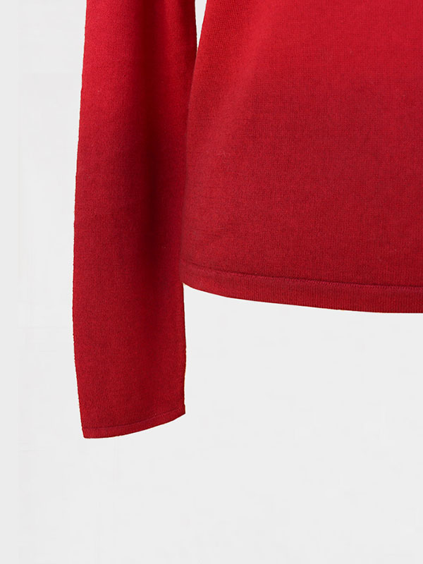 Mentone barchetta shade in seta e cashmere cordovan/garnet dettaglio