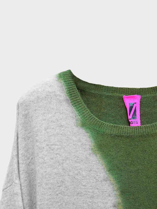 Nice space tiedye in cashmere oxford/scout dettaglio scollo