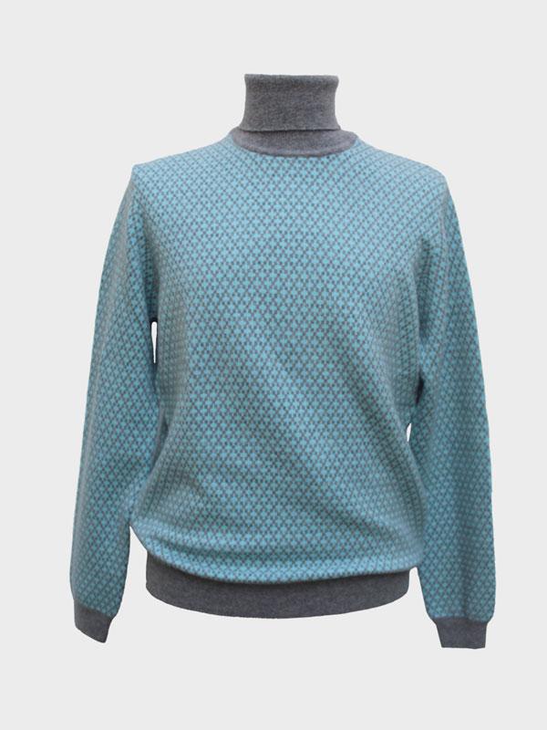 Teodoro dolcevita in cashmere turquoise