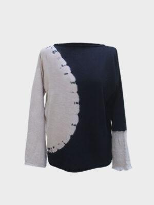 Maddalena Space tie-dye black/jute
