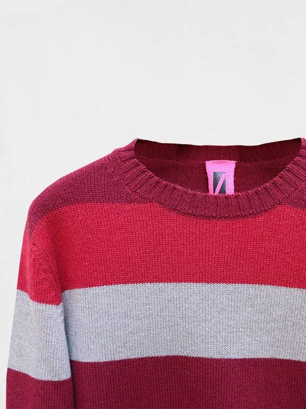 London girocollo in lana e cashmere dettaglio scollo