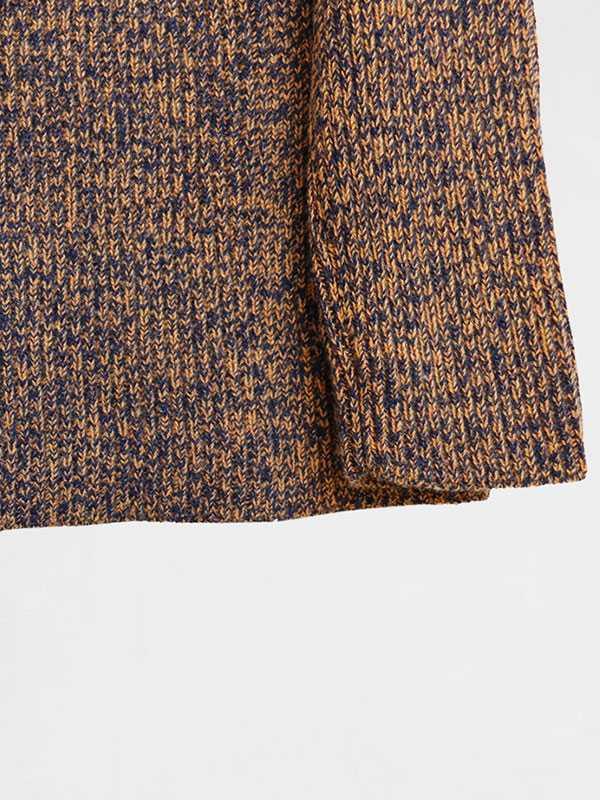 Maddalena moulinè in lana e cashmere dettaglio