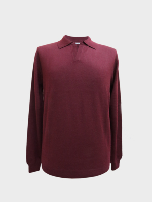 Polo in cashmere pettinato shiraz