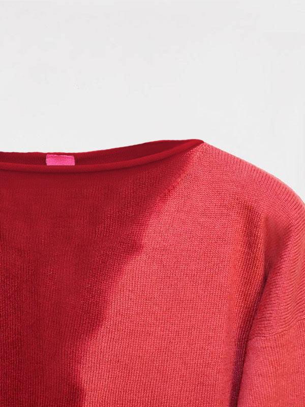 Maddalena Space tie-dye cordovan/garnet dettaglio scollo