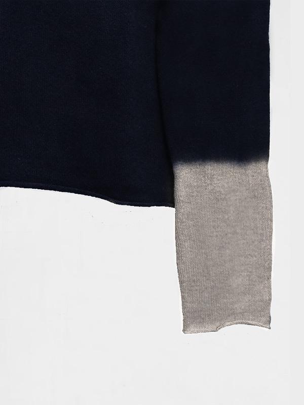 Joy space tiedye in cashmere oxford midnight dettaglio