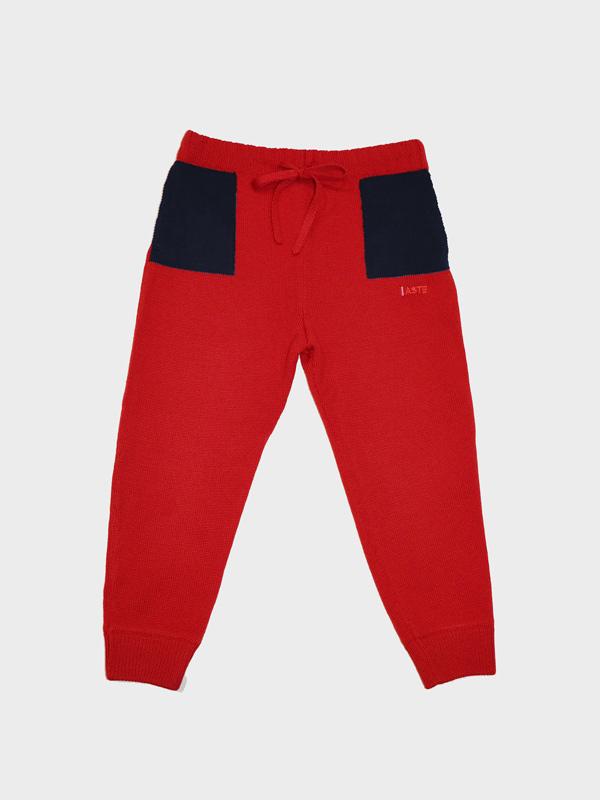Pantalone con tasche red