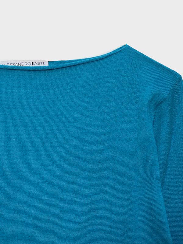 Mentone turquoise dett scollo