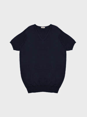 T-shirt scollo v navy