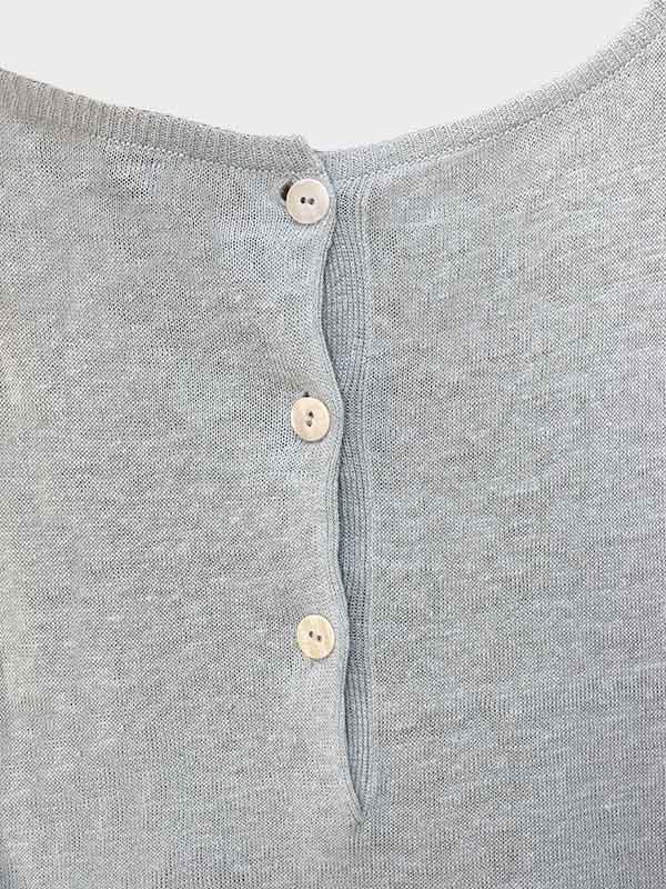 Short dress in lino post