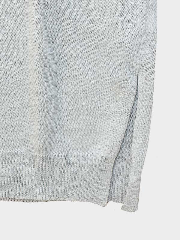 Short dress in lino dett