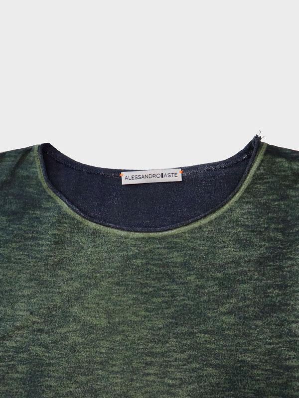 Pepper t-shirt verde dett scollo