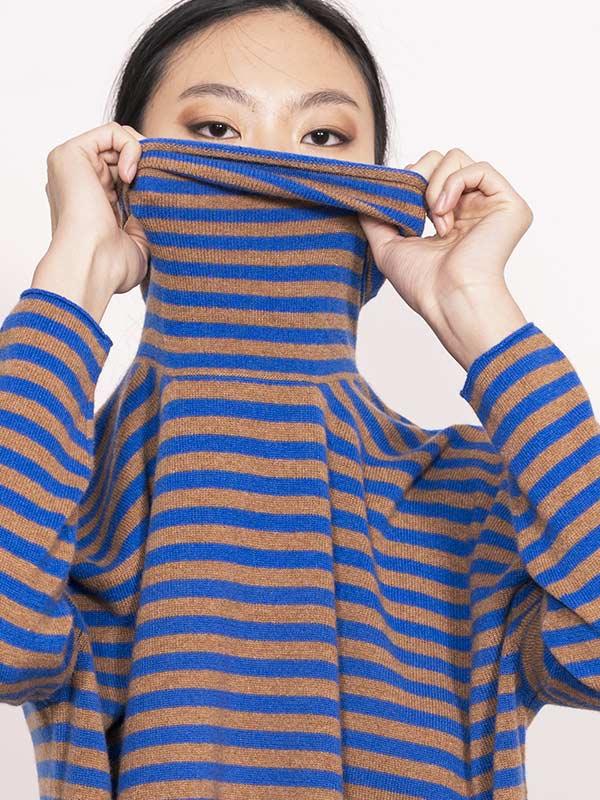 Otaru dolcevita stripes dett collo