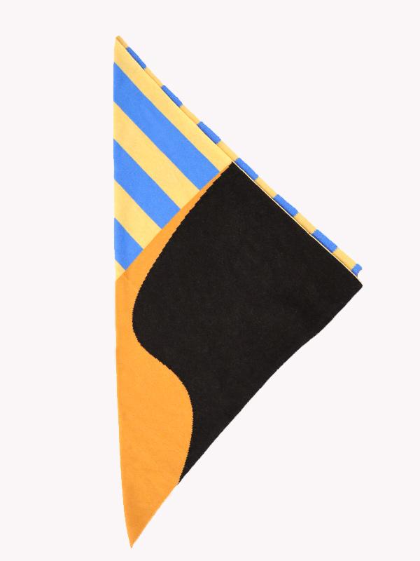 square shawl intarsio dett
