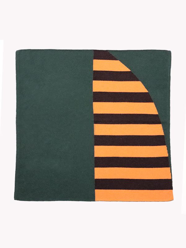 square shawl intarsio verde