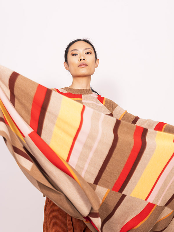 Frida multistripes natural ind
